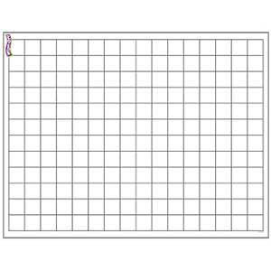 Graphing Grid Small Squares Wipe-Off Poster