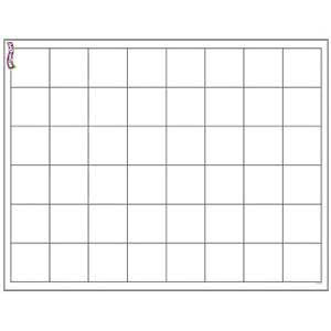 Graphing Grid Large Squares Wipe-Off Poster