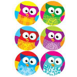 Owl-Stars SuperSpots Stickers