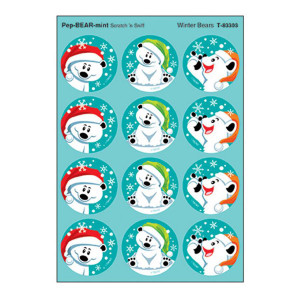 Winter Bears Stinky Stickers