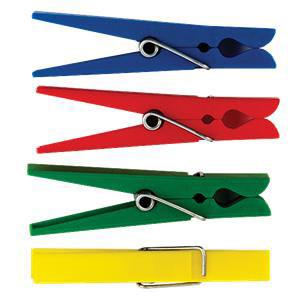 Plastic Clothespins-Set of 40