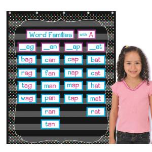 Chalkboard Brights Pocket Chart-10 Pockets
