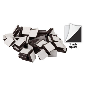 Adhesive Magnetic Squares-1""