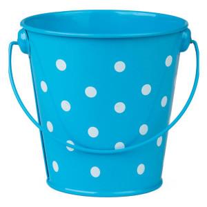 Aqua Polka Dots Bucket