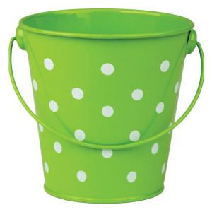 Lime Polka Dots Bucket