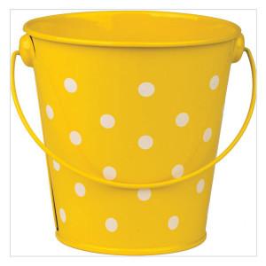Yellow Polka Dots Bucket