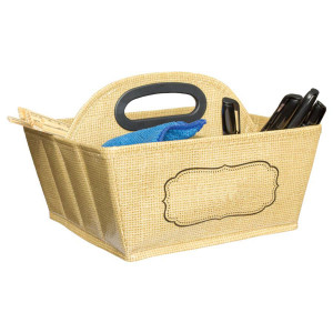 Burlap Storage Caddy
