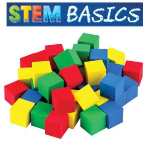 "STEM Basics: Multicolor 3/4"" Foam Cubes"