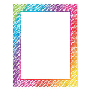 Colorful Scribble Computer Paper