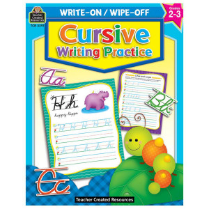 Cursive Writing Write-On/Wipe Off Book- 2-3