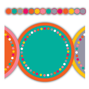 Tropical Punch Circles Die-Cut Border