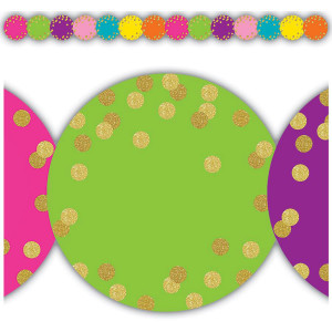 Confetti Circles Die-Cut Border