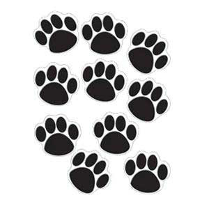 Paw Prints Black Cut-Outs