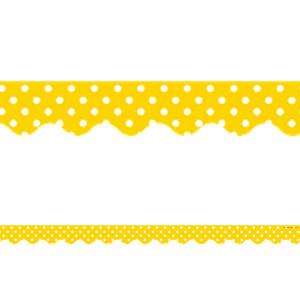 Yelllow Mini Polka Dots Border