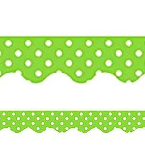 Lime Mini Polka Dots Border