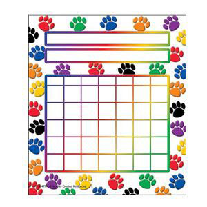Paw Prints Color Incentive Pad