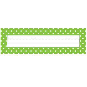 Lime Polka Dots Nameplates