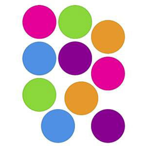 Bright Colors Circles Cut-Outs