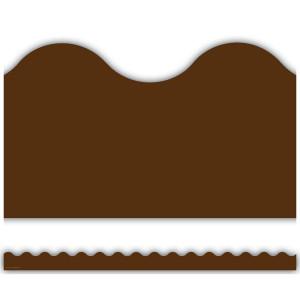 Chocolate Brown Scalloped Border