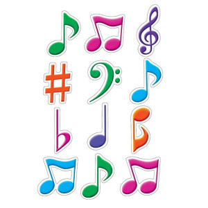 Musical Notes Mini Cut-Outs