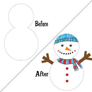 Snowman Large Cut-Outs