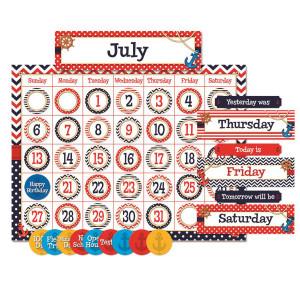 Nautical Calendar Bulletin Board Set
