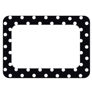 Black Polka Dots Nametags