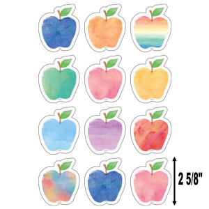 Watercolor Apples Small Cut-Outs