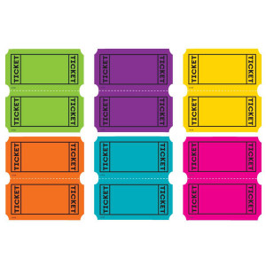 Bright Color Tickets Mini Cut-Outs