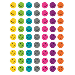 Bright Happy Faces Incentive Stickers