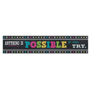 Anything is Possible Chalkboard Brights Banner