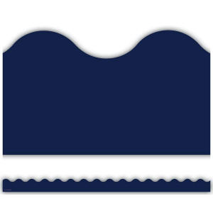 Navy Scalloped Border