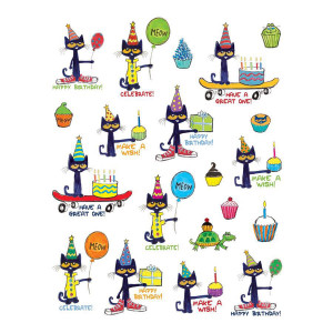 Pete the Cat Birthday Stickers