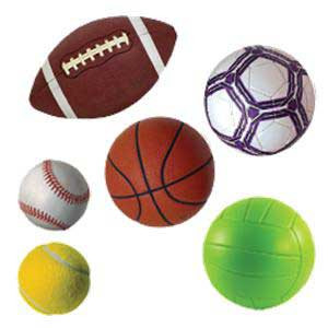 Sports Ball Cut-Outs