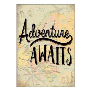 Travel the Map Adventure Awaits Positive Poster