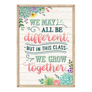We Grow Together Positive Poster