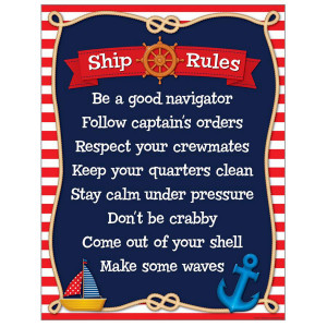 Nautical Classroom Rules Poster