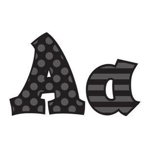 """Black 5"""" Sassy Letters"""