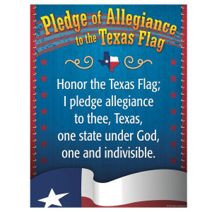 Pledge to the Texas Flag Poster