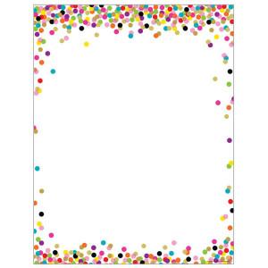 Confetti Blank Poster