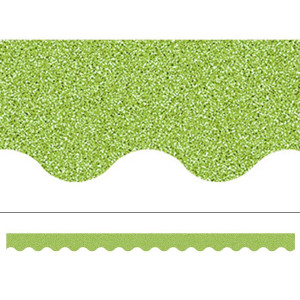 Lime Green Glitz Border