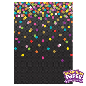Colorful Confetti on Black Better Than Paper Roll