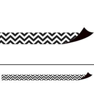 Black & White Chevron Magnetic Border Strips