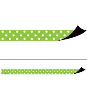 Lime Polka Dots Magnetic Border Strips