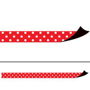 Red Polka Dots Magnetic Border Strips
