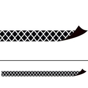 Black Moroccan Magnetic Border Strips