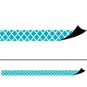Teal Moroccan Magnetic Border Strips