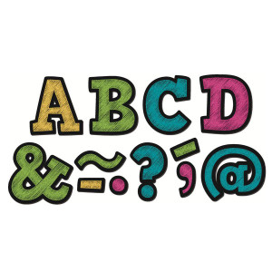 "Chalkboard Brights Bold Block Magnetic 2"" Letters"