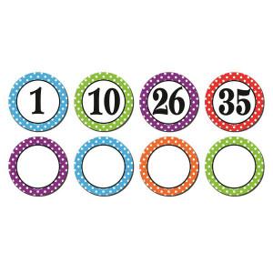 Magnetic Polka Dot Numbers