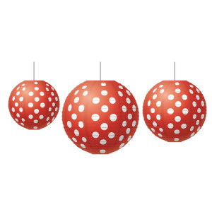 Red Polka Dots Lanterns